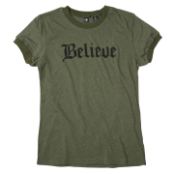 Believe shirt - green