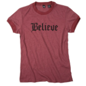 Believe shirt - red